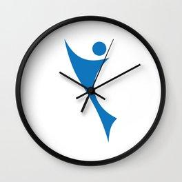 sporty man Wall Clock