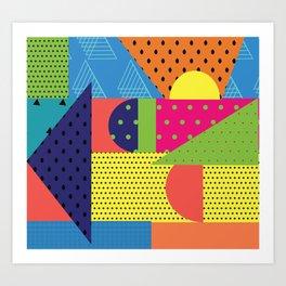 Colorful Bold Collage Remix Art Print