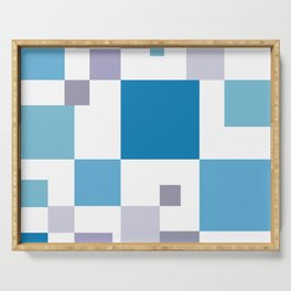 Square colorful tech background #society6 #decor #buyart #artprint Serving Tray