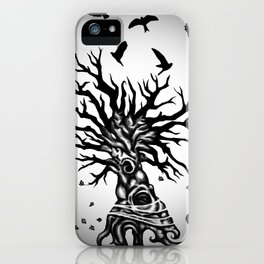 under dry roots. iPhone Case