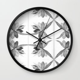 Nature Print Wall Clock