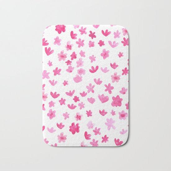 Pink Blooms Bath Mat