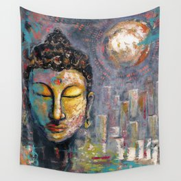 BUDDHA IN PORTLAND Wall Tapestry