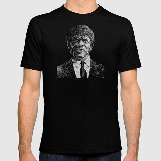 Jules Winnfield Portrait - Fingerprint - Samuel L. Jackson - Pulp Fiction T-shirt
