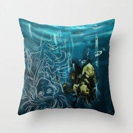Falling into the dark Throw Pillow
