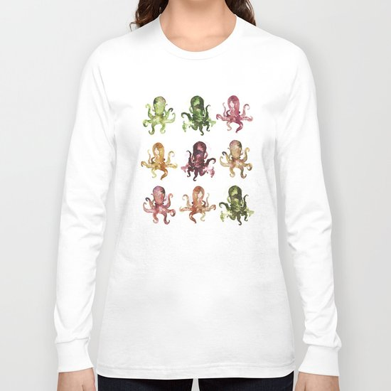 9 octopuses Long Sleeve T-shirt