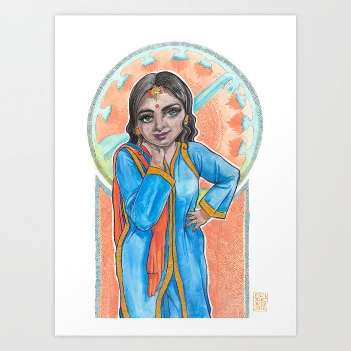 Mucha in India Art Print