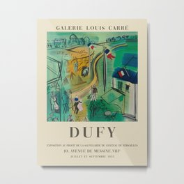 Raoul Dufy. Exhibition poster for Galerie LOUIS CARRÉ in Paris, 1953. Metal Print