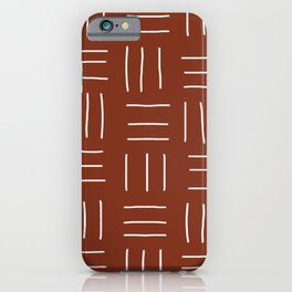 Rust Mudcloth iPhone Case