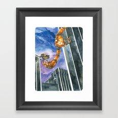 Moonbot #4: Orange Framed Art Print