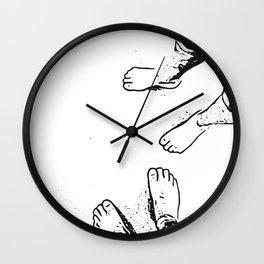 Feet on the sand Wall Clock