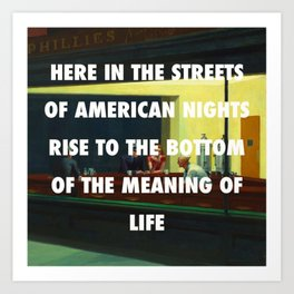 New York City Nighthawks Art Print