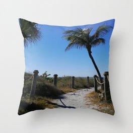 Captiva Island Beach Access Throw Pillow