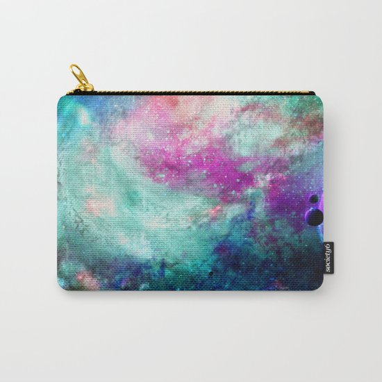 Teal Galaxy Carry-All Pouch