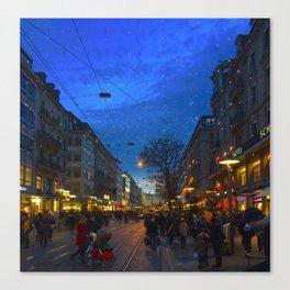 Weihnachtsmarkt  Canvas Print