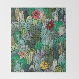 Cactus Collection Throw Blanket