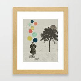 Thinking big thoughts Framed Art Print