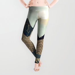 Indigo Forest with Gold Leggings