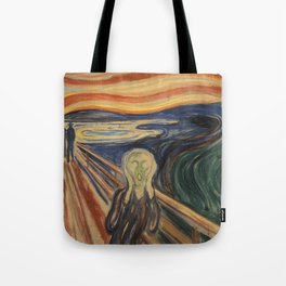 The Scream, Edvard Munch, classic painting Tote Bag