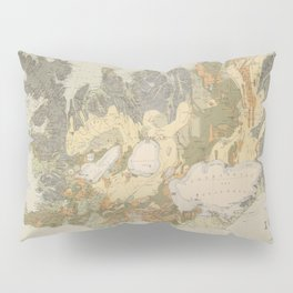 Vintage Geological Map of Iceland (1901) Pillow Sham