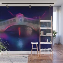Pink Eclipse Rialto Bridge Wall Mural