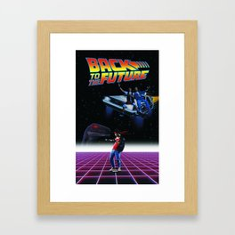 Back to kung future Framed Art Print