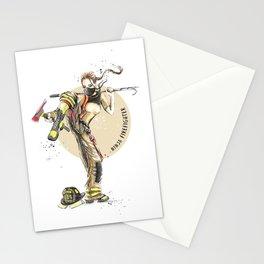 Ninja Firefighter Stationery Cards