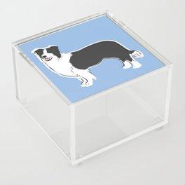 Border Collie Acrylic Box