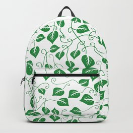 More Leaves Less Grieves Green Pattern Backpack