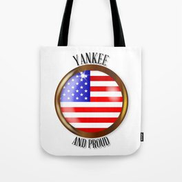 Yankee Proud Flag Button Tote Bag