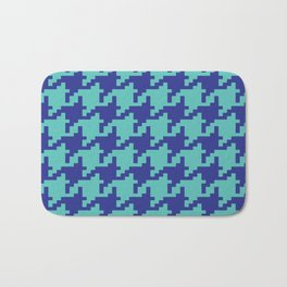 Houndstooth - Blue & Turquoise Bath Mat