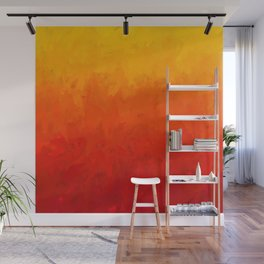Scarlet and Gold Heat Wall Mural
