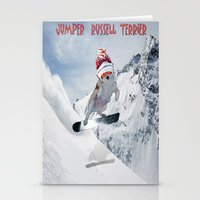 snowboarding Stationery Cards featuring Snowboarding by Dymond Speers