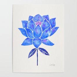Sacred Lotus – Blue Blossom Poster