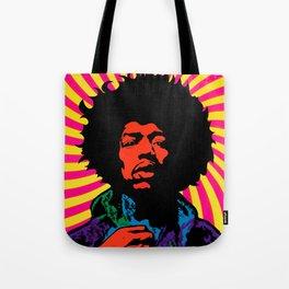 Psychedelic Jimi Tote Bag