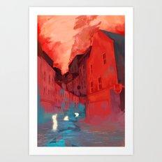 Children of the red night Art Print