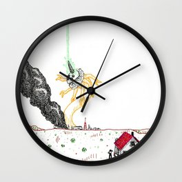 Explosion at the Labs Wall Clock
