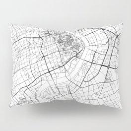 Shanghai White Map Pillow Sham