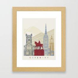 Coventry skyline poster Framed Art Print