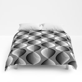 Abstract geometric grayscale pattern  Comforters