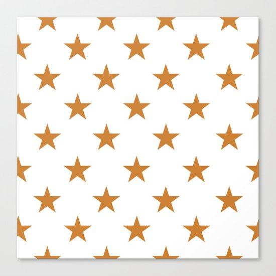 Stars (Bronze/White) Canvas Print