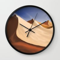 desert Wall Clocks featuring Desert by Turul