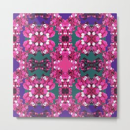 Bejeweled Floral Fuchsia Metal Print