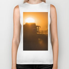 Midsummer time is harvest time of the cereal fields Biker Tank
