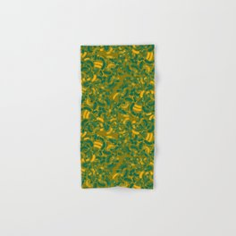 Abstract pattern in green gold Hand & Bath Towel