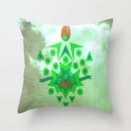 Abstract Reversal of P.O.K.Y Throw Pillow