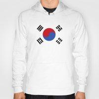 korean Hoodies featuring South Korean Flag  by Laura Ruth