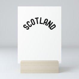 Scotland Grunge Distressed Style Mini Art Print