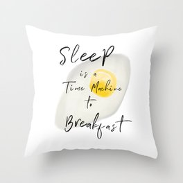 Breakfast / poster, art print, pictures, scandinavian, nursery, deco, saying, christmas, sarcasm, eg Throw Pillow