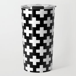 Swiss Cross W&B Travel Mug